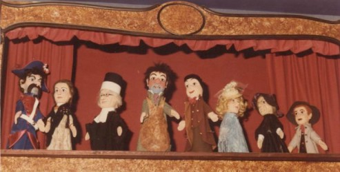The puppet theater.